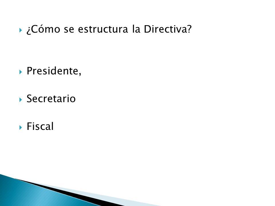 ¿Cómo se estructura la Directiva
