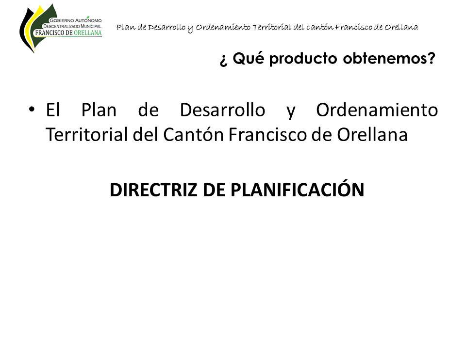 DIRECTRIZ DE PLANIFICACIÓN