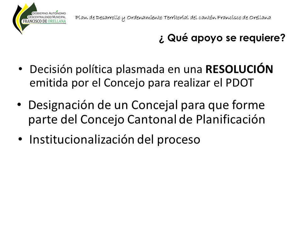 Institucionalización del proceso