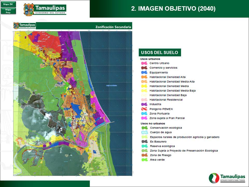 Mapa ZM 2. IMAGEN OBJETIVO (2040) Mapa Proy USOS DEL SUELO