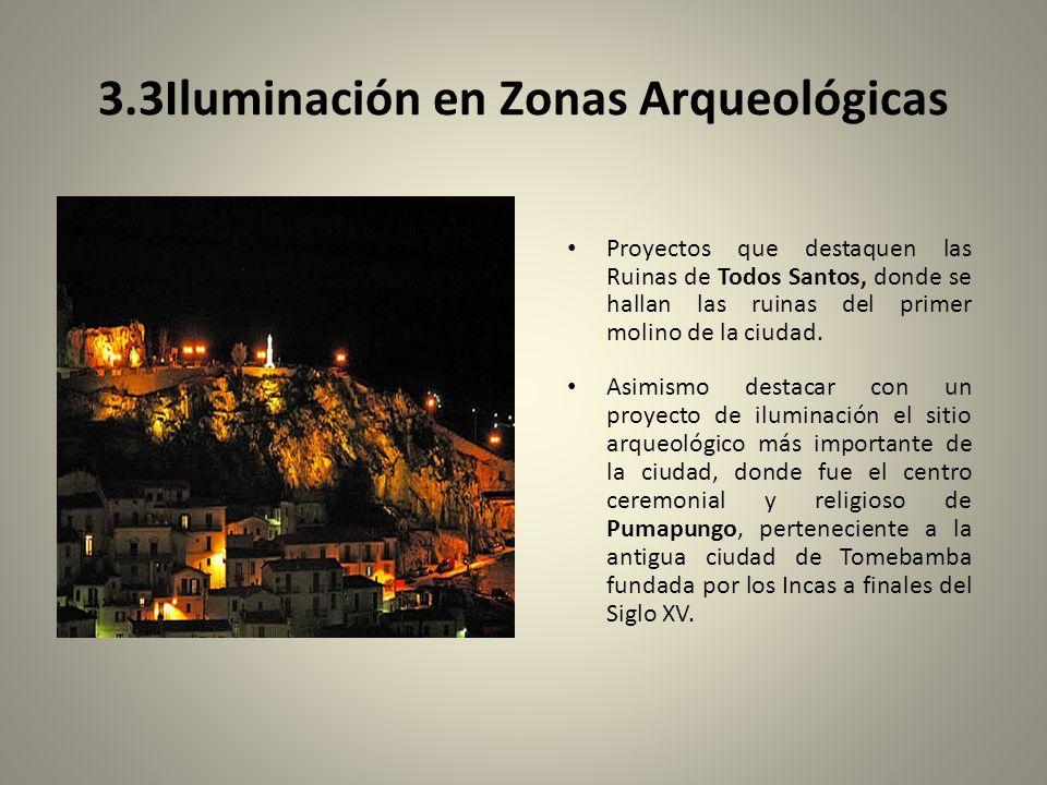 3.3Iluminación en Zonas Arqueológicas