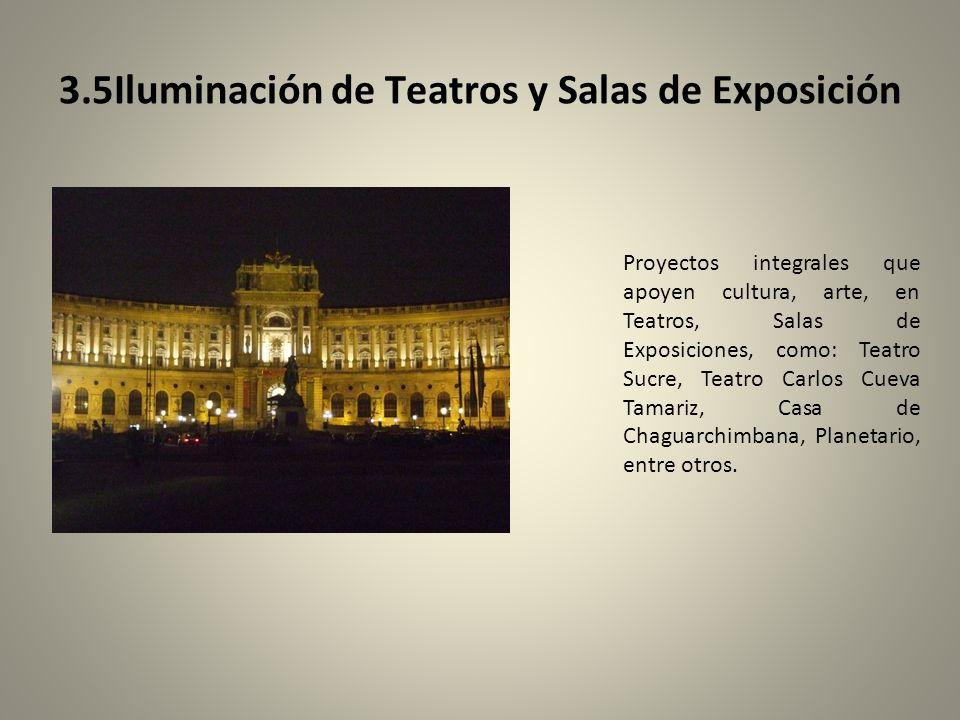 3.5Iluminación de Teatros y Salas de Exposición