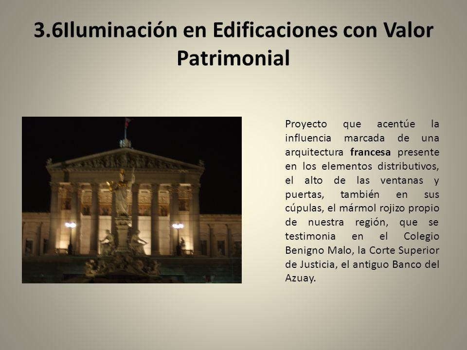 3.6Iluminación en Edificaciones con Valor Patrimonial