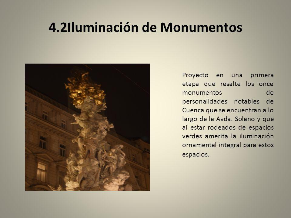 4.2Iluminación de Monumentos