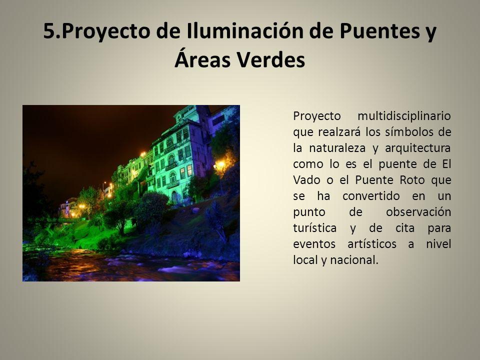 5.Proyecto de Iluminación de Puentes y Áreas Verdes