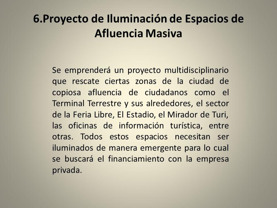 6.Proyecto de Iluminación de Espacios de Afluencia Masiva