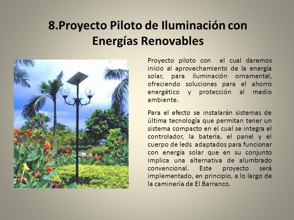 8.Proyecto Piloto de Iluminación con Energías Renovables