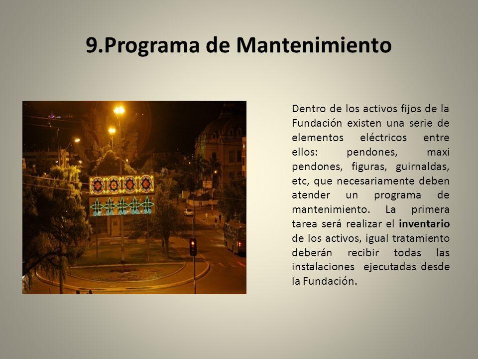 9.Programa de Mantenimiento