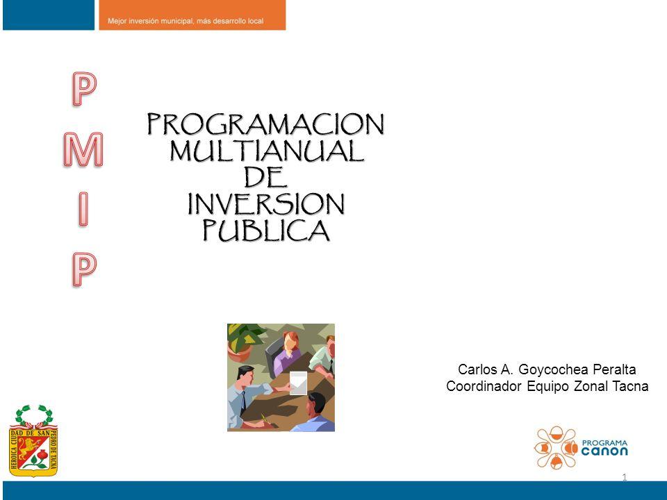 P M I PROGRAMACION MULTIANUAL DE INVERSION PUBLICA