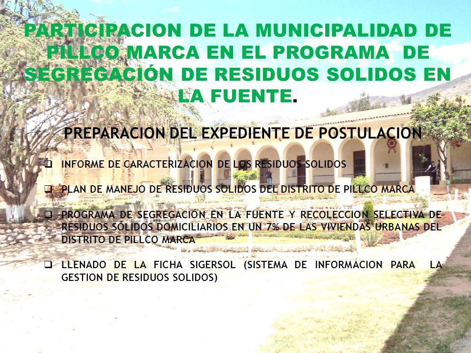 PREPARACION DEL EXPEDIENTE DE POSTULACION