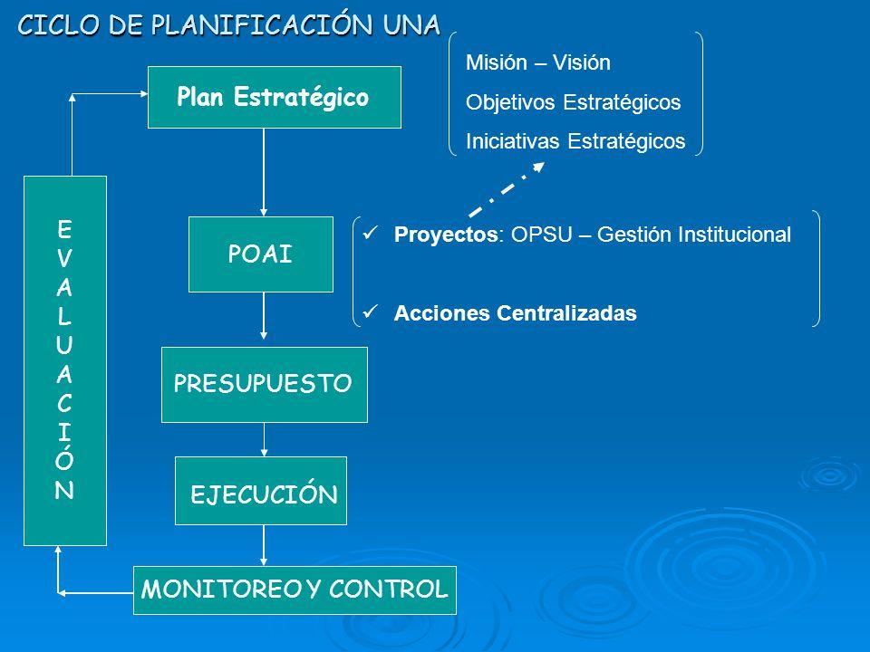 CICLO DE PLANIFICACIÓN UNA