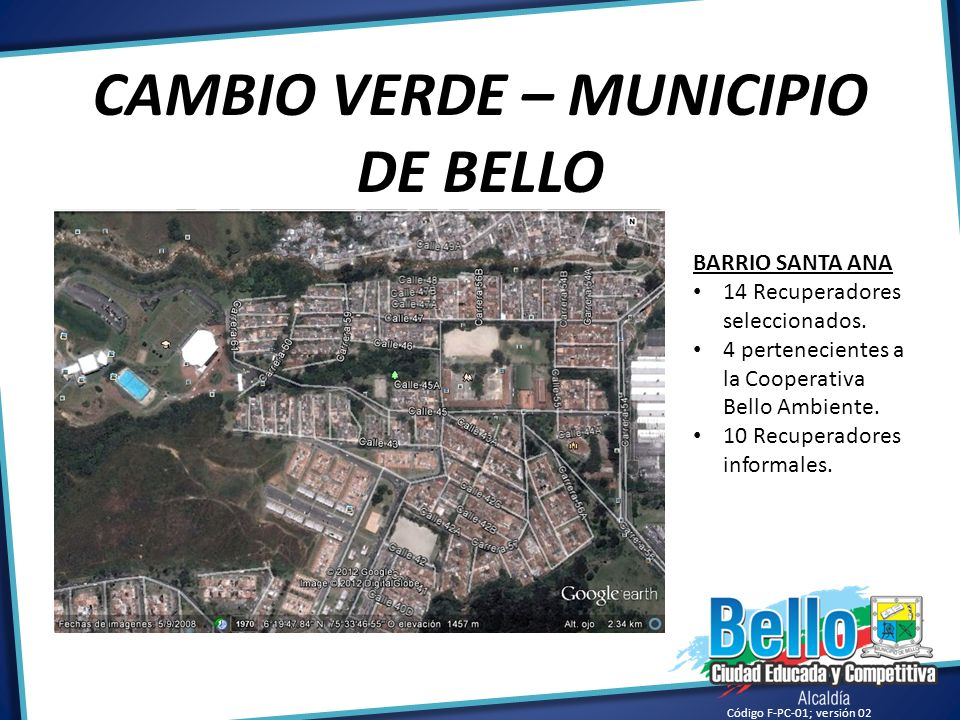 CAMBIO VERDE – MUNICIPIO DE BELLO