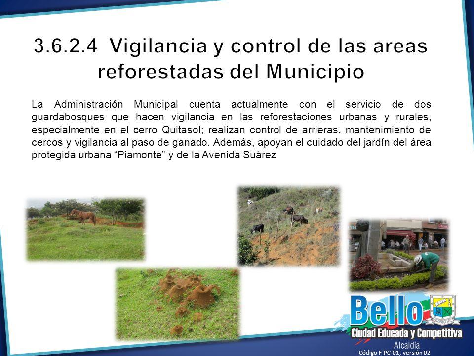 3.6.2.4 Vigilancia y control de las areas reforestadas del Municipio