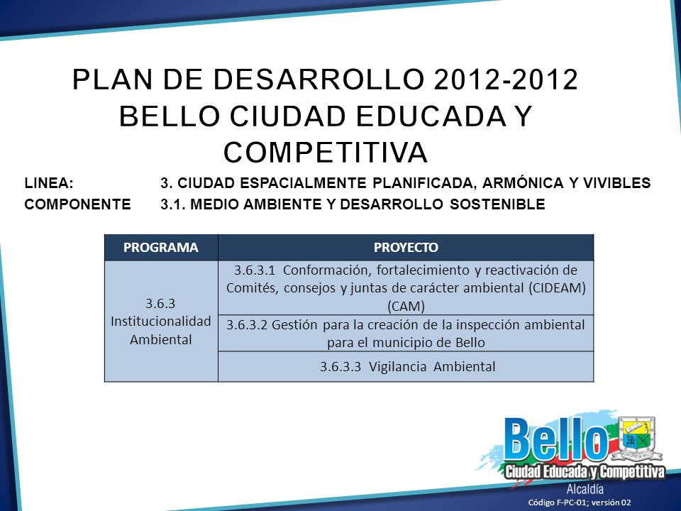 BELLO CIUDAD EDUCADA Y COMPETITIVA