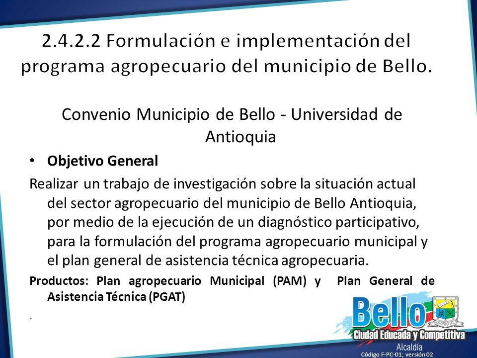 Convenio Municipio de Bello - Universidad de Antioquia