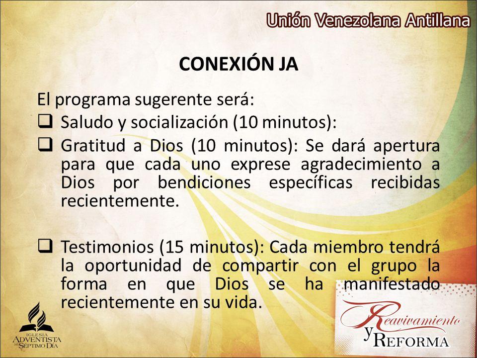 CONEXIÓN JA El programa sugerente será: