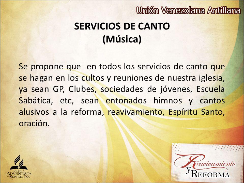 SERVICIOS DE CANTO (Música)