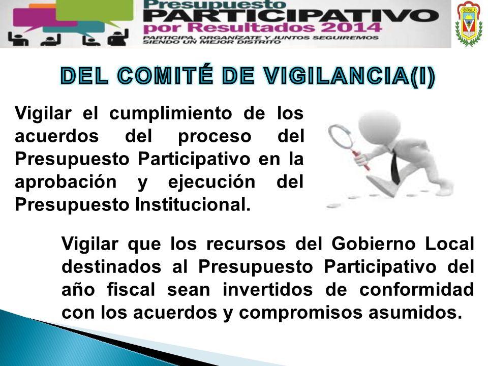 DEL COMITÉ DE VIGILANCIA(I)