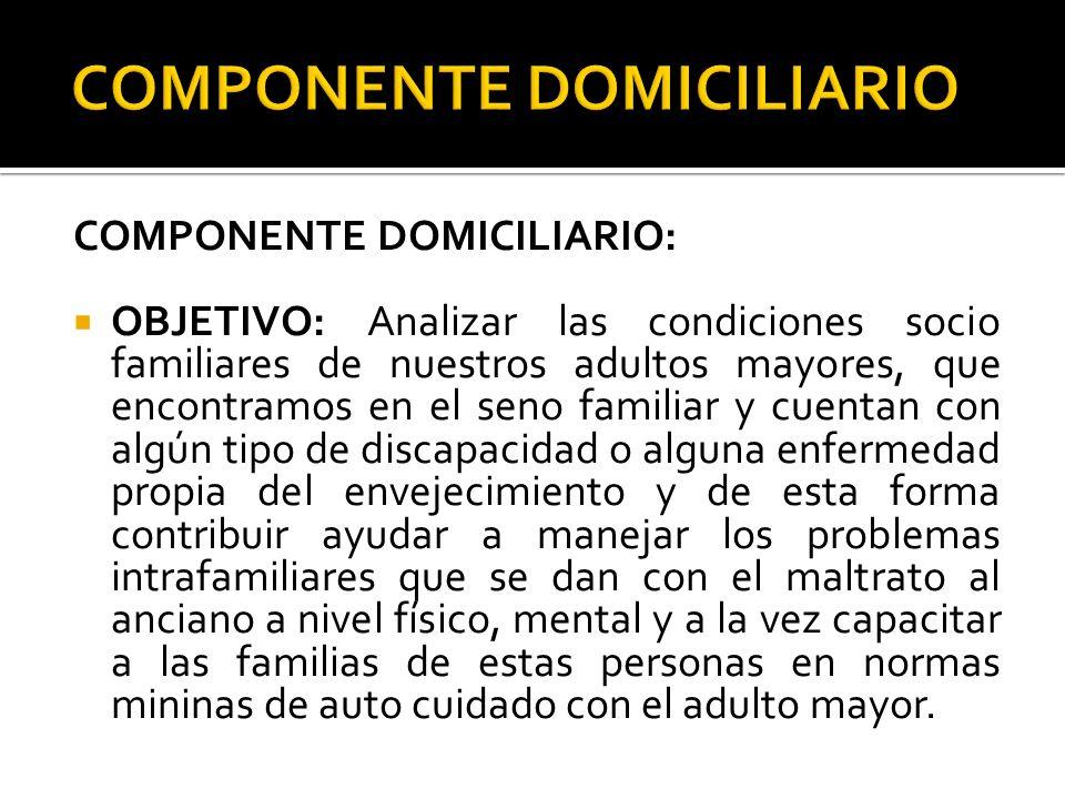 COMPONENTE DOMICILIARIO
