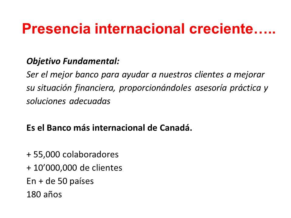 Presencia internacional creciente…..
