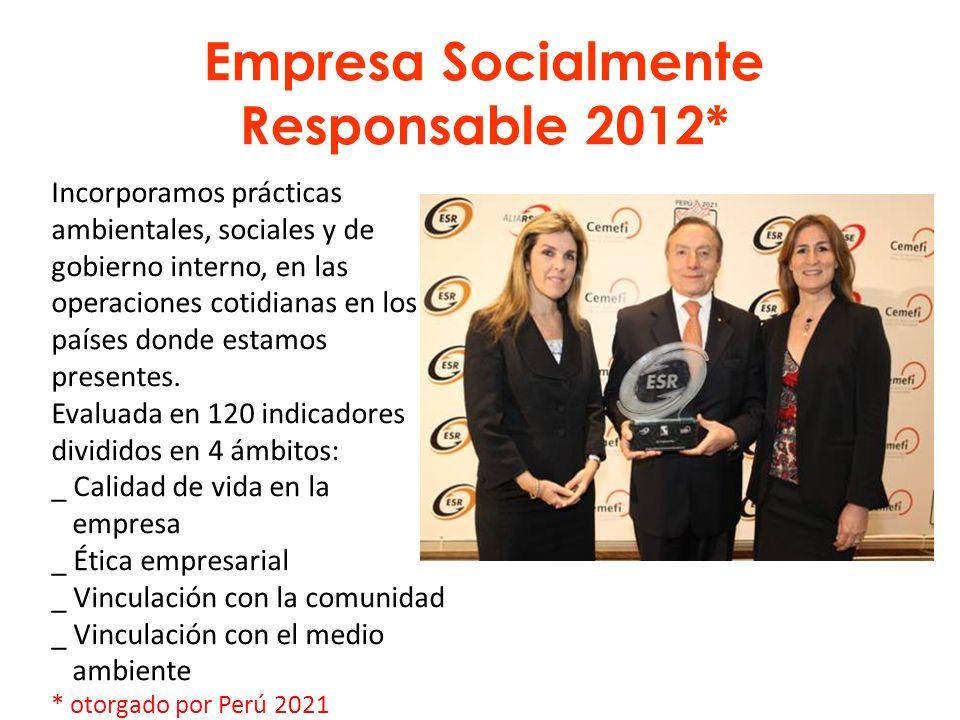 Empresa Socialmente Responsable 2012*