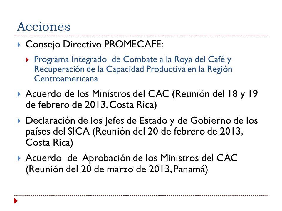 Acciones Consejo Directivo PROMECAFE: