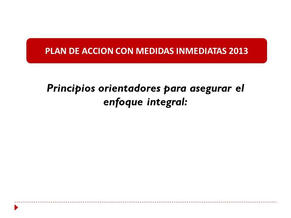 Principios orientadores para asegurar el enfoque integral: