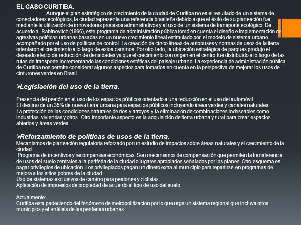 Legislación del uso de la tierra.