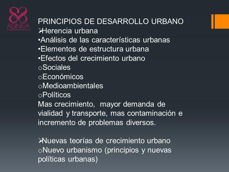 PRINCIPIOS DE DESARROLLO URBANO