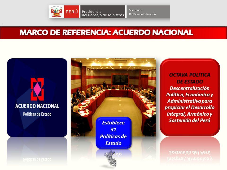 MARCO DE REFERENCIA: ACUERDO NACIONAL