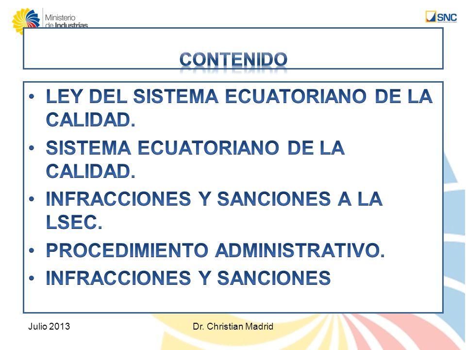 LEY DEL SISTEMA ECUATORIANO DE LA CALIDAD.