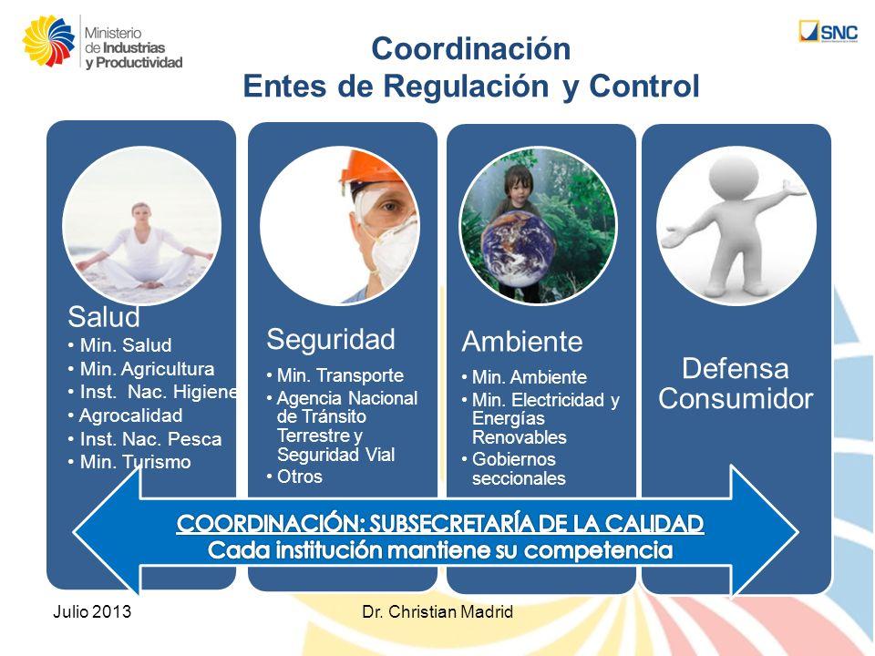 Coordinación Entes de Regulación y Control