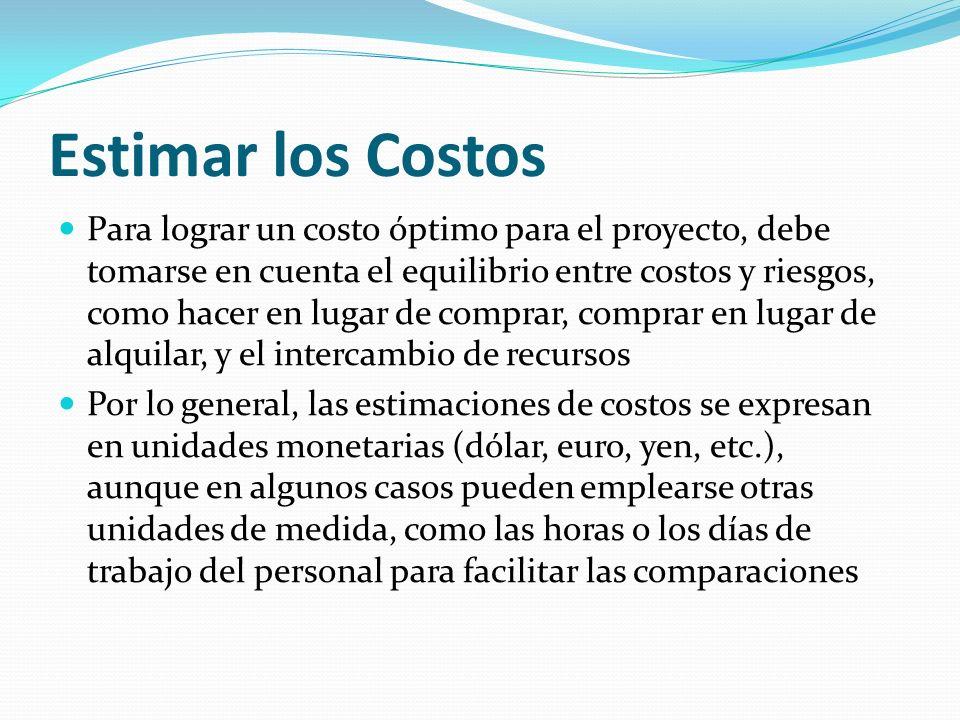 Estimar los Costos