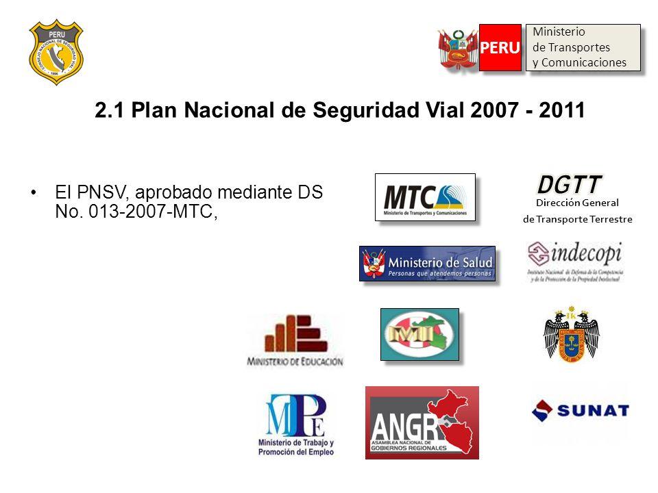 2.1 Plan Nacional de Seguridad Vial 2007 - 2011