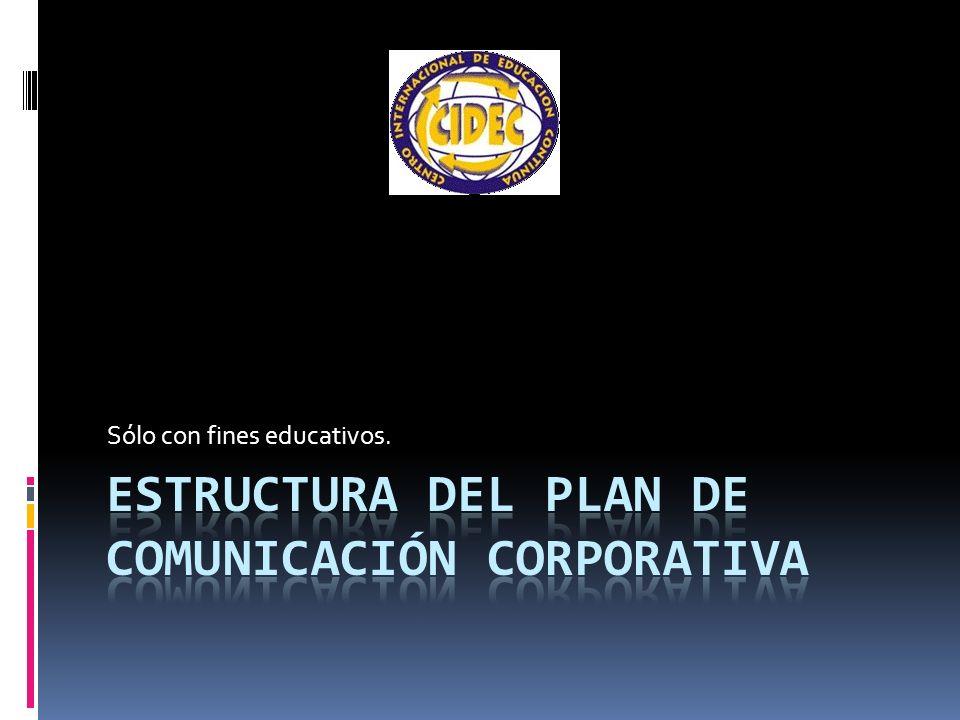 Estructura del Plan de Comunicación Corporativa