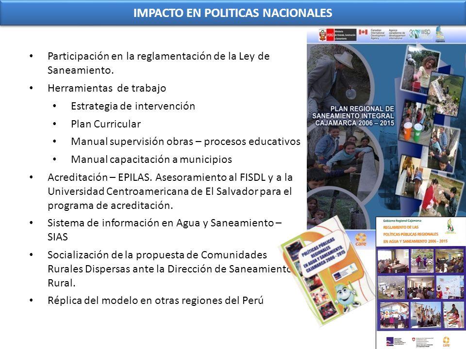 IMPACTO EN POLITICAS NACIONALES
