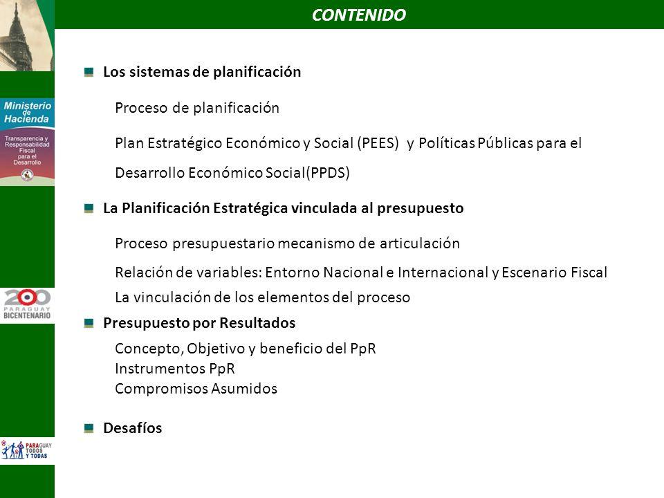 CONTENIDO Los sistemas de planificación Proceso de planificación