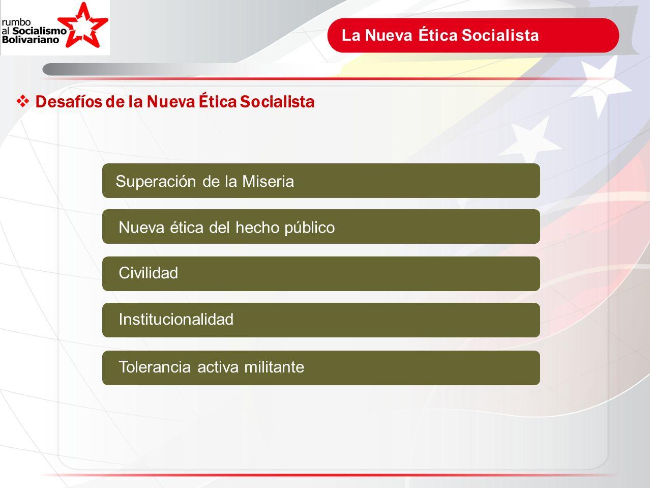 Desafíos de la Nueva Ética Socialista