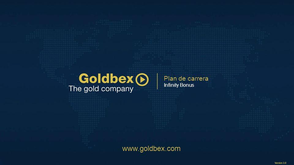 Plan de carrera Infinity Bonus www.goldbex.com