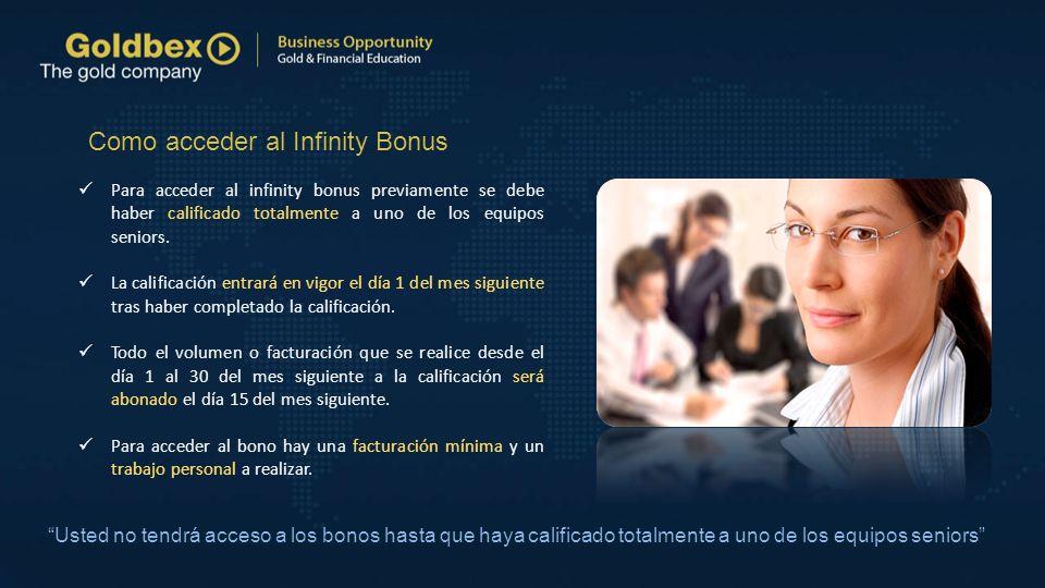 Como acceder al Infinity Bonus