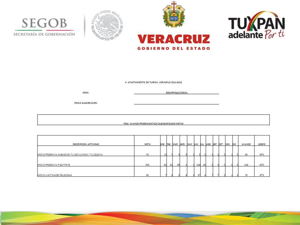 H. AYUNTAMIENTO DE TUXPAN, VERACRUZ 2011-2013