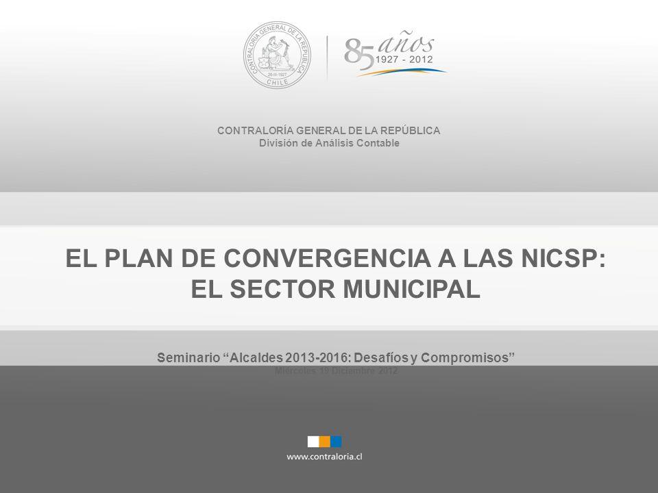 EL PLAN DE CONVERGENCIA A LAS NICSP: EL SECTOR MUNICIPAL
