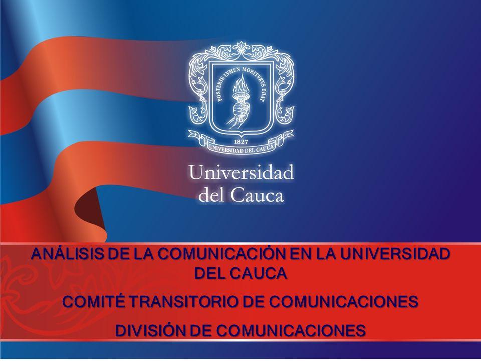 ANÁLISIS DE LA COMUNICACIÓN EN LA UNIVERSIDAD DEL CAUCA