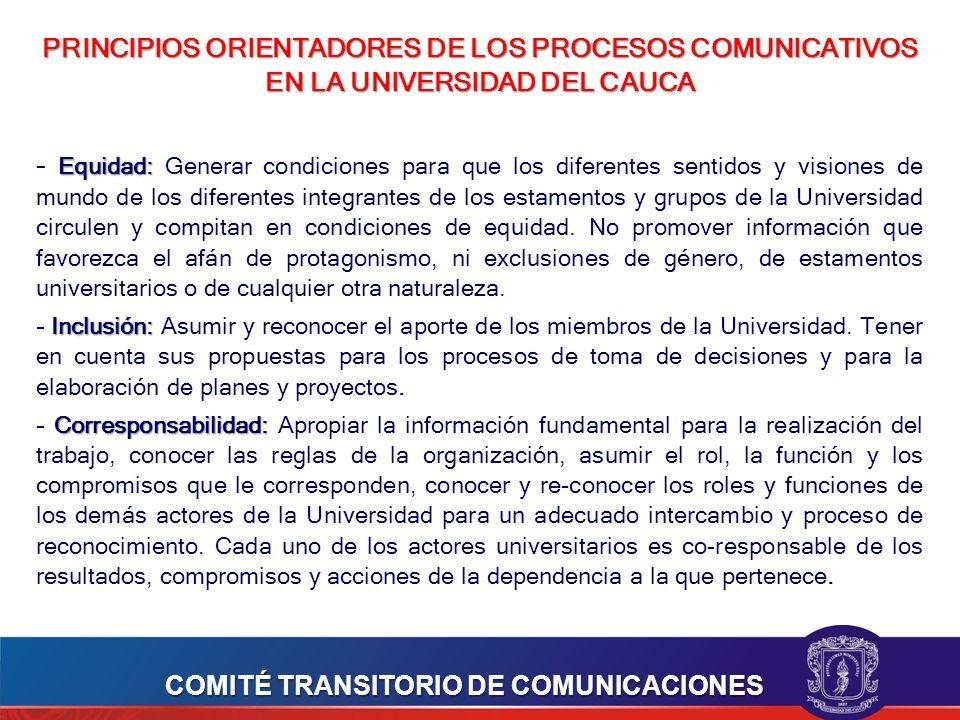 COMITÉ TRANSITORIO DE COMUNICACIONES