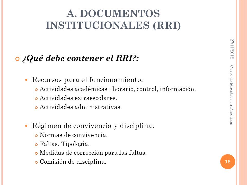 A. DOCUMENTOS INSTITUCIONALES (RRI)