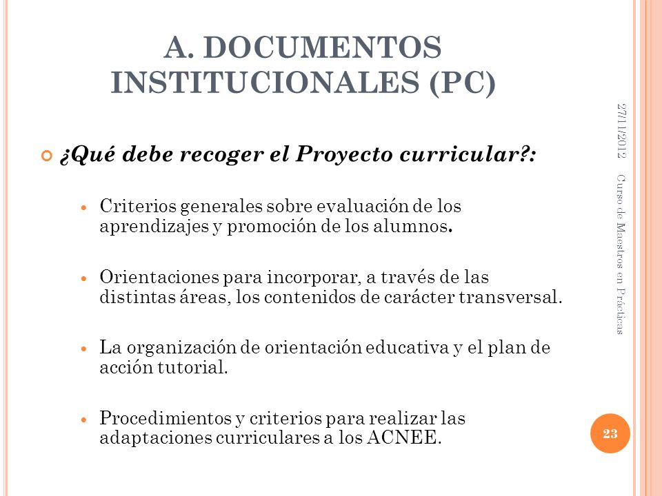 A. DOCUMENTOS INSTITUCIONALES (PC)