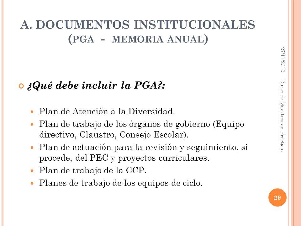 A. DOCUMENTOS INSTITUCIONALES (pga - memoria anual)