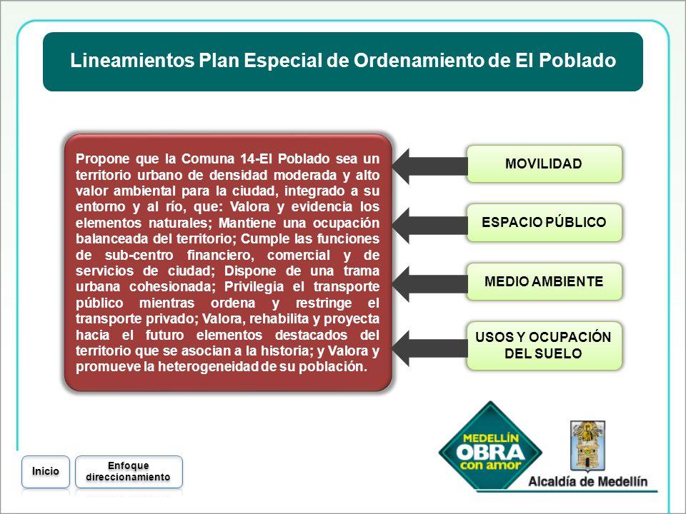 Lineamientos Plan Especial de Ordenamiento de El Poblado