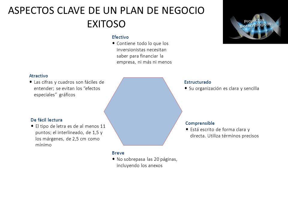 ASPECTOS CLAVE DE UN PLAN DE NEGOCIO EXITOSO