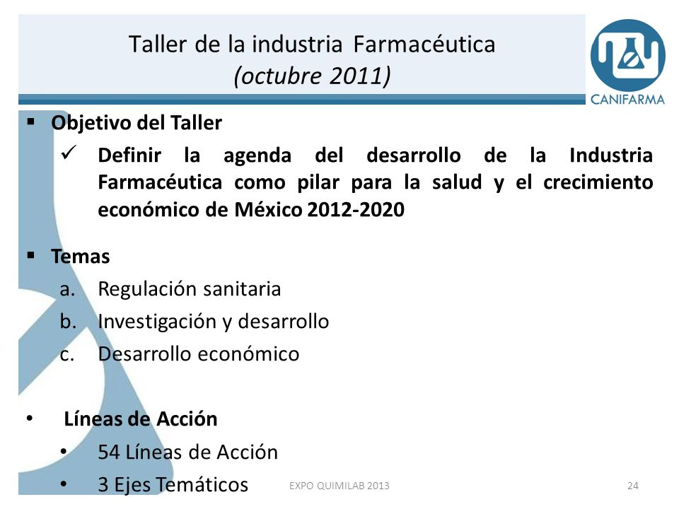 Taller de la industria Farmacéutica (octubre 2011)